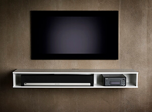 Model 130S is perfect if you want to store a soundbar